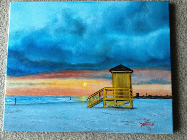 Life Guard Shack 16x20   BUY   $175 - #15414 - Free Shipping US Only
