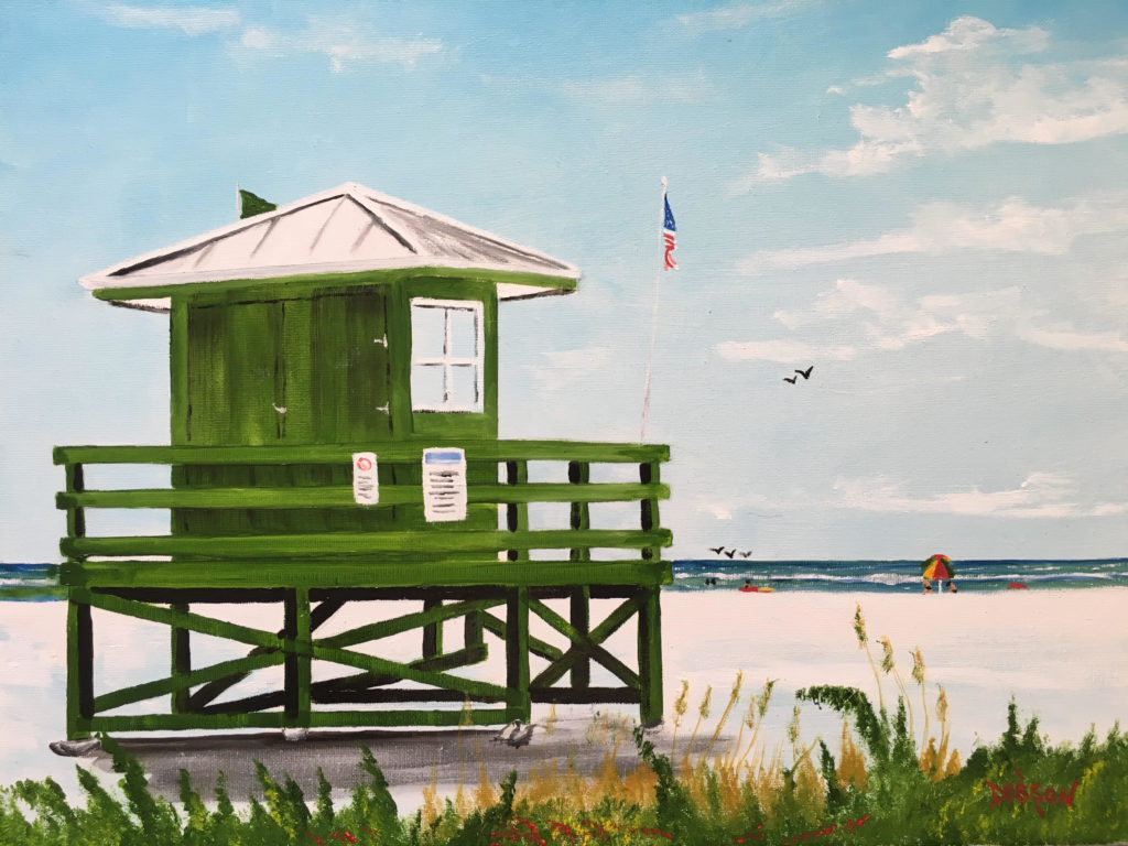"""""""Green Lifeguard Stand On SK"""" #156317 BUY $250 16""""h x 20""""w - FREE shipping lower US 48 & Canada"""