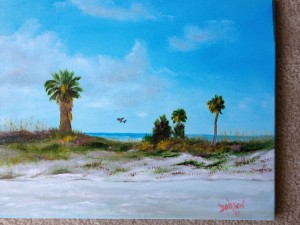 Suncoast Beach 16x20 BUY $175 #15814 - Free Shipping US Only