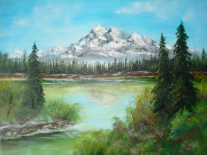 California Snow Capped Mountain 16x20 BUY #10113 $175 Free shipping (USA only)