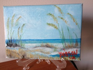 Beach Grass 5x7 BUY $35 - Free Shipping lower US 48 & Canada Only