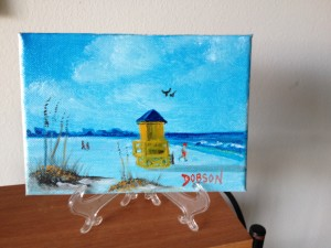 Private Collection Of: Jeannie Mack - Redding, California Yellow Life Guard Shack