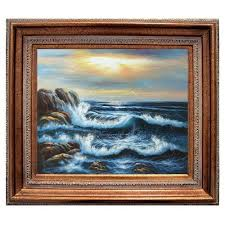 "8x10 Oil Painting ""Pacific Seascape"" - Private Collection - Mr & Mrs Charles, Mason - Glendale, California"