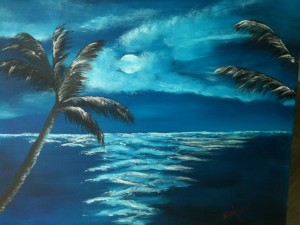 Private Collection Of: Nikki Noungruk - Arcadia, Florida Moon Light Night In Paradise