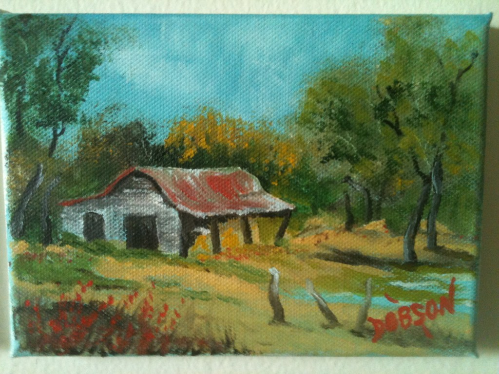 Barn In The Ozarks #10213 BUY $35 5x7 - Free Shipping lower USA 48 & Canada Only