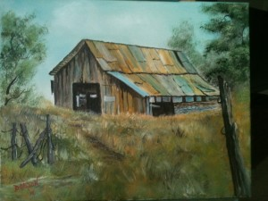 Barn On a Hill 16x20 BUY #12414 $175 Free shipping (USA only)
