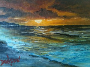 "Collection of: ""Beach Sunset"" Mr & Mrs Wally Green Cincinnati. Ohio"