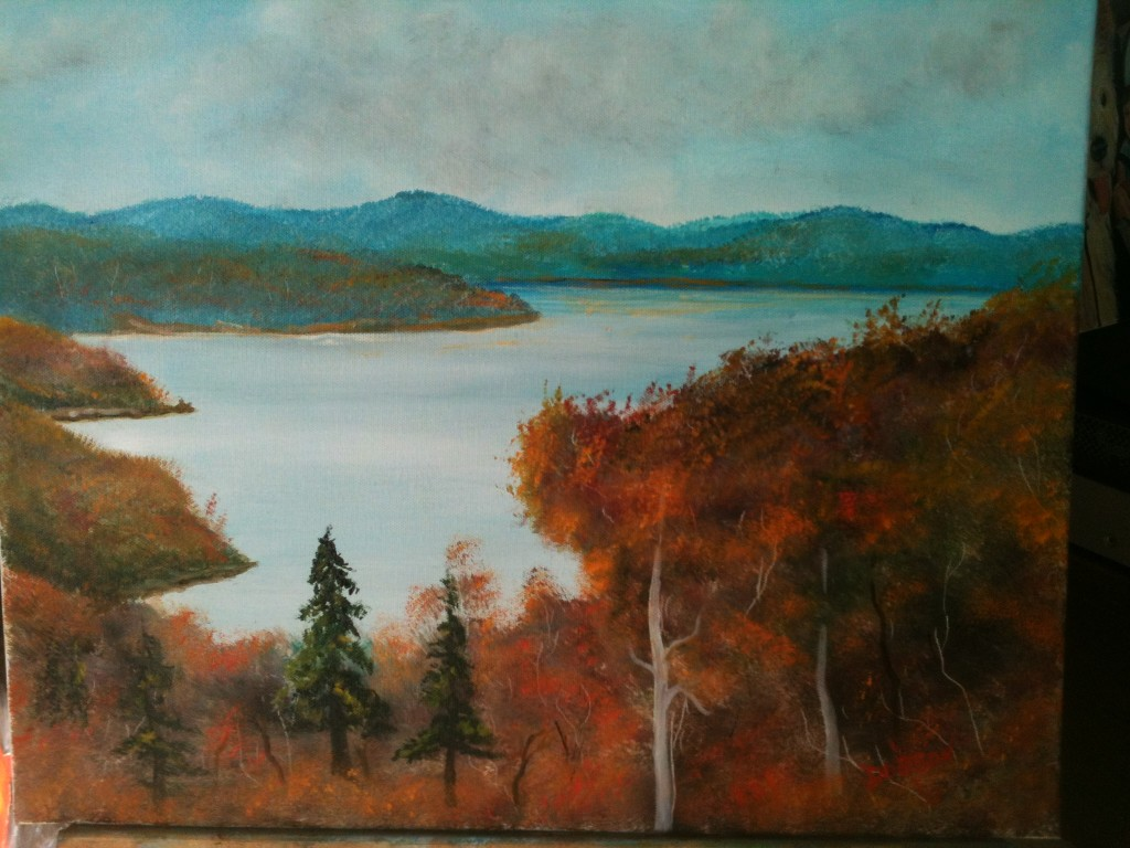 Fall Day At Lake-of-the-Ozarks 16x20 BUY #11913 $175 Free shipping (USA only)