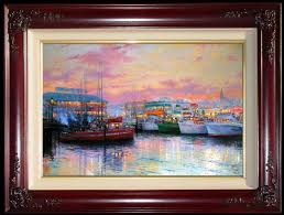 "24x36 Oil Painting - ""Fisherman's Wharf"" Private Collection - Mr & Mrs Reid Pressley - Sacramento, California"
