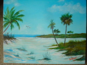 This Way To The Beach 16x20 BUY #14014 $175 Free shipping (USA only)