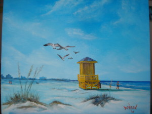 "Private Collection: David & Jan Leakey ""Siesta Key Life Guard Shack"""