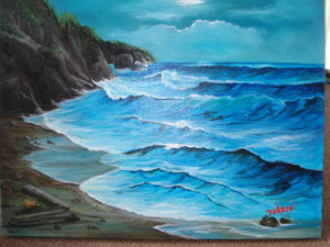 Private Collection Of: Katie Rothin - Bradenton, Florida Moon Light On The Surf #13014