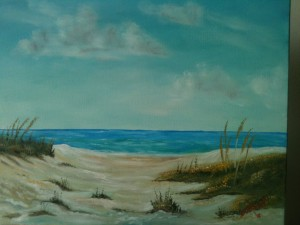 "5x7 Oil Painting ""Siesta Key at The Beach"" Private Collection - GeGe Nadimi - Osage Beach, Missouri"