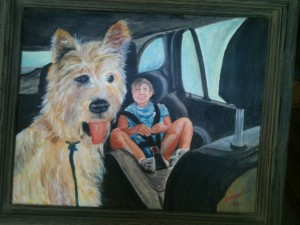 "16x20 Oil Painting ""Tessa & Farley"" Private Collection - Chip & Ashlyn Dobson - Sarasota, Florida"