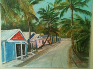 Village In Jamaica 16x20 BUY #12814 $175 Free shipping (USA only)