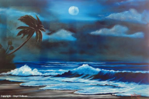 Moon Light Night #110014   BUY   $295 20x30 - Free Shipping (USA) Only