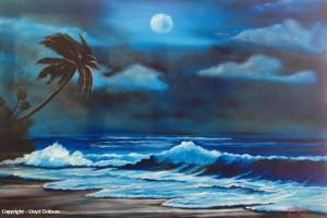 Moon Light Night #110014   BUY   $295 20x30 - Free Shipping (USA) Only
