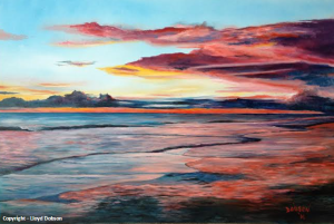 "Private Collection Of: Dugald & Sharon Winters - Fair Oaks Ranch, Texas "" Sunset On Siesta Key"" - #110414"