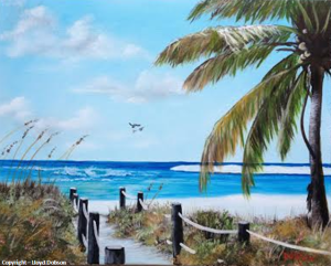 "Private Collection Of: Dianne & George Wall Hampton, New Hampshire ""Path Onto The Beach"" #110914 - $225 16x20"
