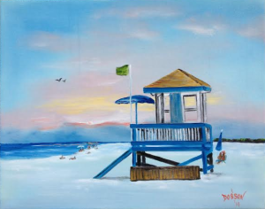 "Private Collection Of: David & Melanie Lester - Louisville, Kentucky - ""Another Beach Day"" #111114 16x20"