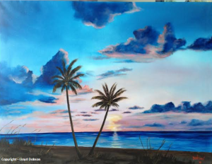 Another Paradise Sunset #111614 BUY $895 34x44 - Free Shipping US Lower 48 & Canada