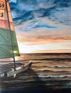"Private Collection Of: Larry Cabel - Libertyville, Illinois ""Catamaran On The Key"" #111914 $255 16x20"