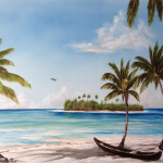 Paradise Island #112314   BUY   $395 26x40 - Free Shipping Lower US 48 & Canada