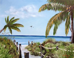 "Private Collection Of: Chris Perkins - Siesta Key, Florida 16x20 ""Siesta Beach Access"" #112514 $225"