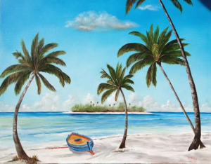 "Private Collection Of: Chip & Ashlyn Dobson Sarasota, Florida ""An Island In Paradise"" #115314 - $895 34x42"