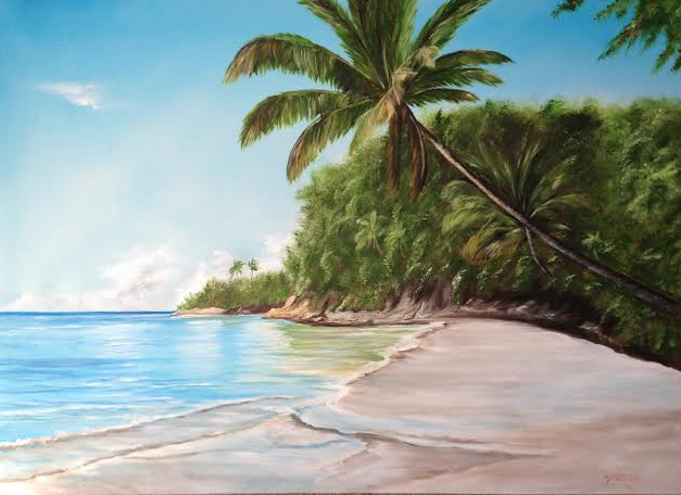 In Paradise #115814 BUY $895 32x44 - Free Shipping Lower USA 48 & Canada