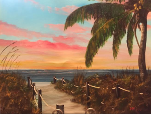 "Private Collection Of: Christy Kruger, RN - Crown Point, Indiana ""Sunset At Siesta Key"" #116914 - $225 16x20"