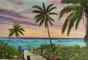 "Private Collection Of: Mary Phillippsen Sarasota, Florida ""Tropical Paradise"" #117214 $495 24x36"