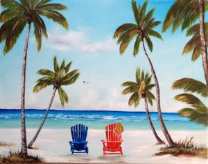 "Private Collection Of: Can't Say It's A Gift ""Living The Dream In Florida"" #117414 16x20 $225"