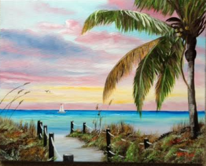 "Private Collection Of: Vivian Tamez - Sarasota, Florida ""Colors Of Siesta Key"" #117514 - $225 16x20"