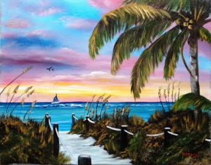 Private Collection Of Brittany & James Wygocki Eagan, Minnesota Siesta Key Colors At Sunset #118015 - $250 16x20