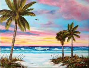 "Private Collection Of: Valerie Palmer-Hall - Overland Park, Kansas ""Colors Of Siesta Key"" #118115 - $225 16x20"