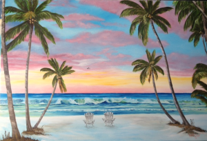 Private Collection Of: Mike & Sheila Lynch - Lakewood Ranch, Florida Living The Dream With My Wife #118215 - $495 24x36