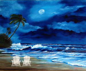 "Private Collection Of: Maryanna Phillippsen - Sarasota, Florida ""Let's Watch The Moon Light"" !118915 - $225 16x20"