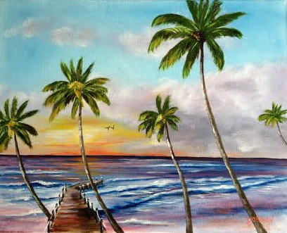 "Private Collection Of: Richard Di Vita Siesta Key, Florida ""The Pier In Paradise"" #119215    $225 16x20"