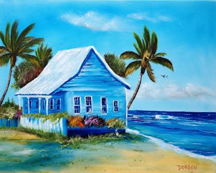Shanty In Jamaica #121815 BUY $250 16x20 - FREE Shipping Lower US 48 & Canada