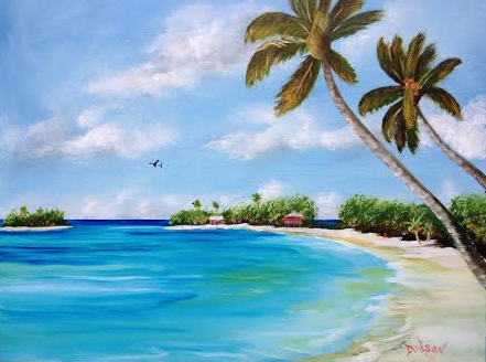 Somewhere In Paradise #121915 BUY $250 16x20 - FREE Shipping Lower US 48 & Canada