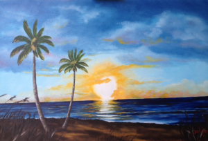 Private Collection Of: Pete Zawoiski Wilkgs Bare, Pa Sunset On Siesta Key #124315 - $495 24x36
