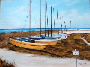 "Private Collection Of: Mr & Mrs Jeff Houck Siesta Key, Florida ""Siesta Key Catamarans"" #124415 - $495 18x24"