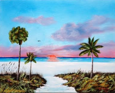 Another Siesta Key Sunset #125515 BUY $250 16x20 - FREE Shipping Lower US 48 & Canada