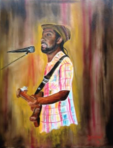 Private Collection Of: Desz - Sarasota, Florida Desz Playing Reggae On Siesta Key #126615 - $895 24x30