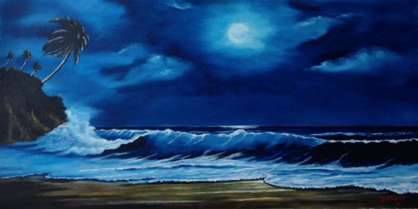 Moon Light Night In Paradise #127015 BUY $895 24x48 - FREE Shipping Lower US 48 & Canada
