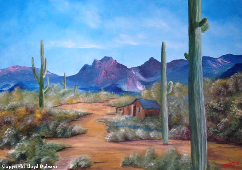 Shack In The Desert 24x36 BUY $275 #12714 - Free Shipping USA Only