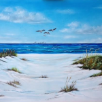 Sea Gulls & The Dunes #127215  BUY  $495 24x36 - FREE Shipping Lower US 48 & Canada