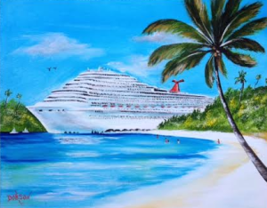 Fun In Paradise On My Cruise #129115 BUY $250 16x20 - FREE Shipping Lower US 48 & Canada