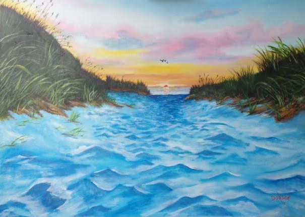 Path To The Key At Sunset #129115 BUY $495 24x36 - FREE Shipping Lower US 48 & Canada